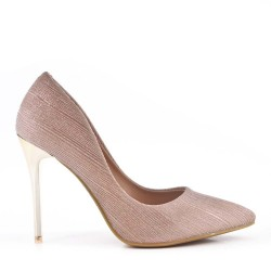 High-heeled pumps in a material mix for women