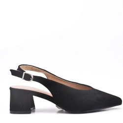 Zapatos de salón de ante sintético para mujer