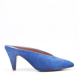 Faux suede women's heeled pumps