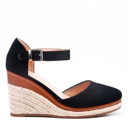 Sandale compensée à semelle espadrille