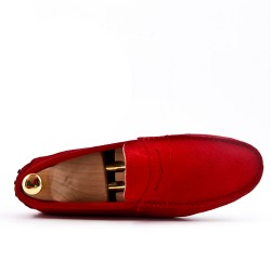Red moccasin suede leather bridle
