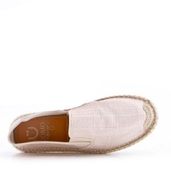 Men's textile moccasin
