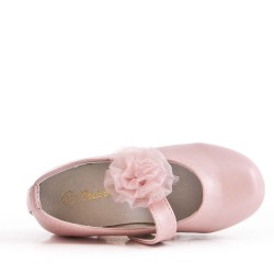 Girl's faux leather ballerina
