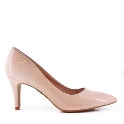 Escarpins à talon en simili cuir pour femme