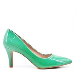 Zapatos de tacón de piel sintética para mujer