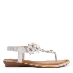 Grande Taille - Sandale plate en simili cuir