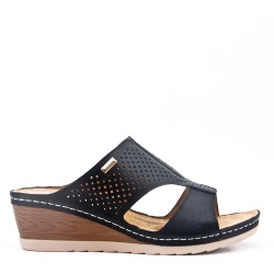 Big Size -Comfort mule in imitation leather