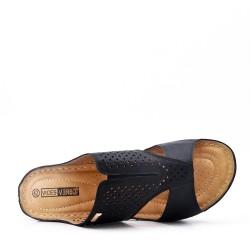 Grande taille -Mule confort en simili cuir