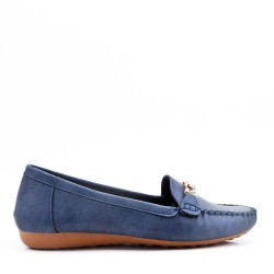 Large size - Faux suede moccasin for women