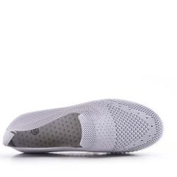 Basket sans lacet en textile pour femme