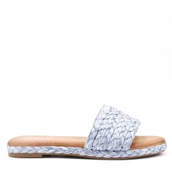 Slipper in mixed materials for women