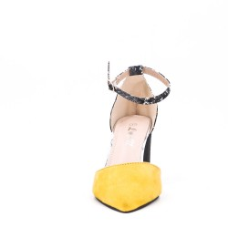Sandale à talon en simili daim pour femme