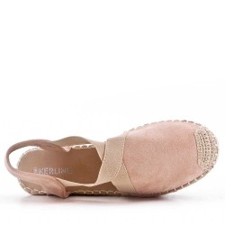Wedge sandal with espadrille sole