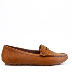 Moccasin in faux suede