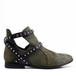 Faux suede ankle boot for spring