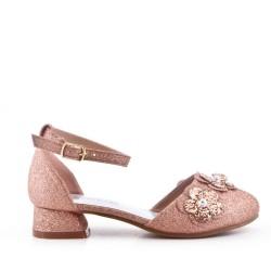 Sandale fille à petit talon