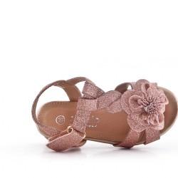 Sandalia niña de las flores