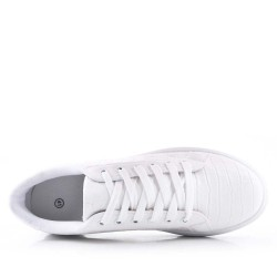Men's faux leather lace-up sneaker