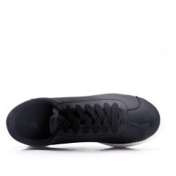 Faux suede lace-up tennis shoe