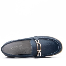 Moccasin in leather