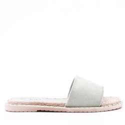 Women's faux suede slide