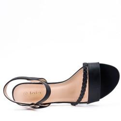 Faux leather heeled sandal