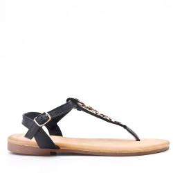 Sandale plat en cuir pour femme