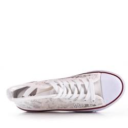 Zapatillas de tenis con cordones encajes