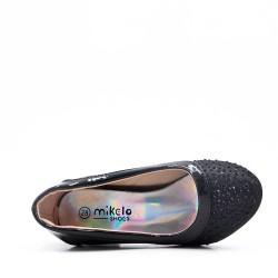 Zapatos de tacón con purpurina para niña