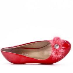 Girl's heeled pump
