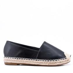 Women's faux leather espadrilles