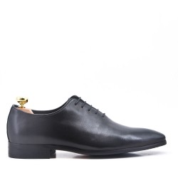 Black Derby with leather lace