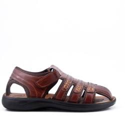 Sandalia de hombre en imitación de cuero