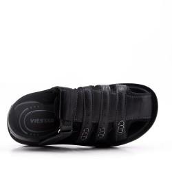 Sandale homme en simili cuir