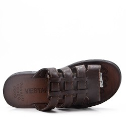 Men's faux leather mule