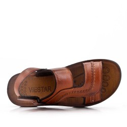 Man sandal in faux leather