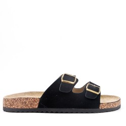 Men's faux leather flip-flop