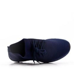 Basket homme à lacets en textile