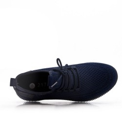 Men's textile lace-up basket