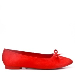 Zapatillas de ballet de gamuza sintética