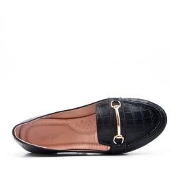 Ballerine confort en simili cuir imprimé
