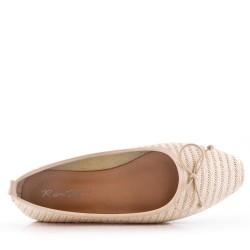 Ballerine confort en textile
