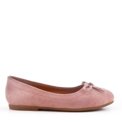 Girl's ballerina in faux suede