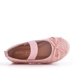 Ballerine fille en textile
