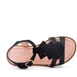 Sandale fille en simili daim