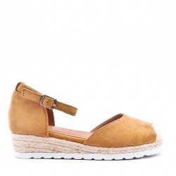 Girl's faux suede sandal