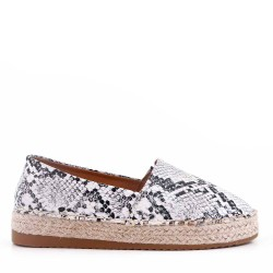 Girl's faux leather espadrilles