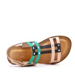 Sandalia de piel sintética para niña