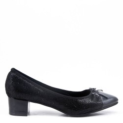 Zapatos de tacón de piel sintética blanca para mujer