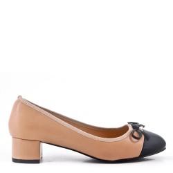 Zapatos de tacón de piel sintética rosado para mujer